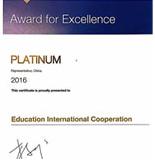 蒙纳士大学2016年白金合作伙伴奖